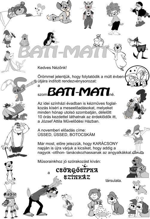 BATI-MATI szórólap