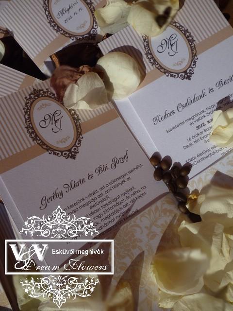 V V Dream Flowers esküvői meghívók 5a97986813