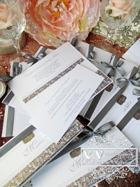 d649441a3d V&V Dream Flowers esküvői meghívók, menü- és ültetőkártyák ...