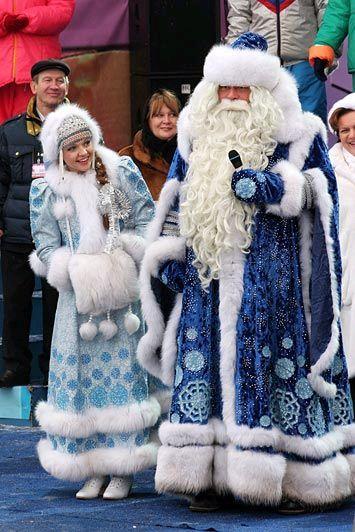 orosz télapó és hópelyhecske