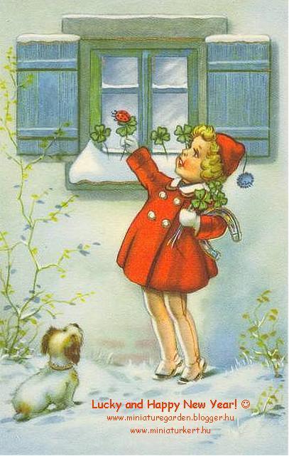 happy new year miniature garden