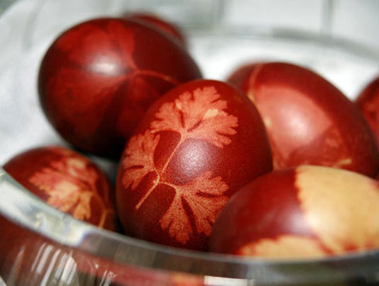 húsvéti tojás levélrátét