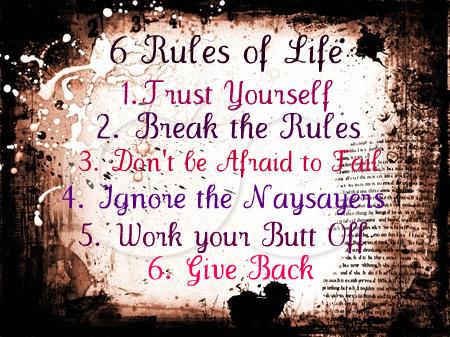 Az élet 6 szabálya
