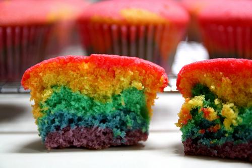 szivárvány muffin