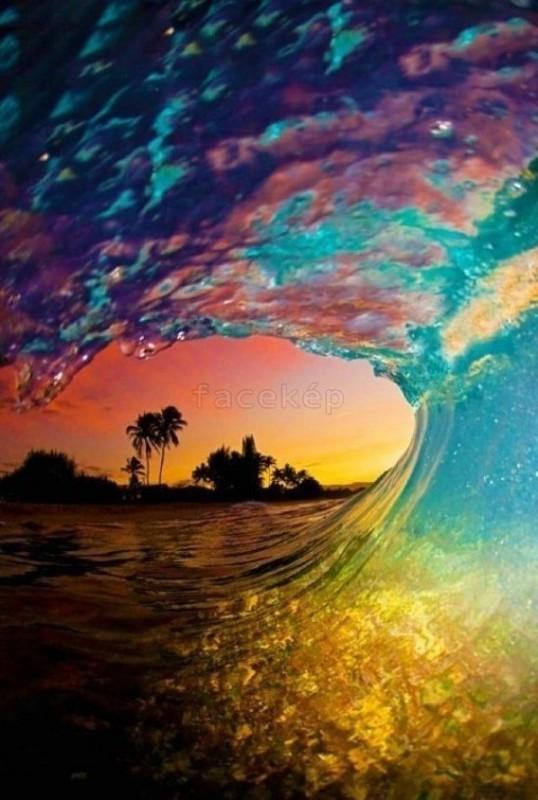 szivárvány hullám