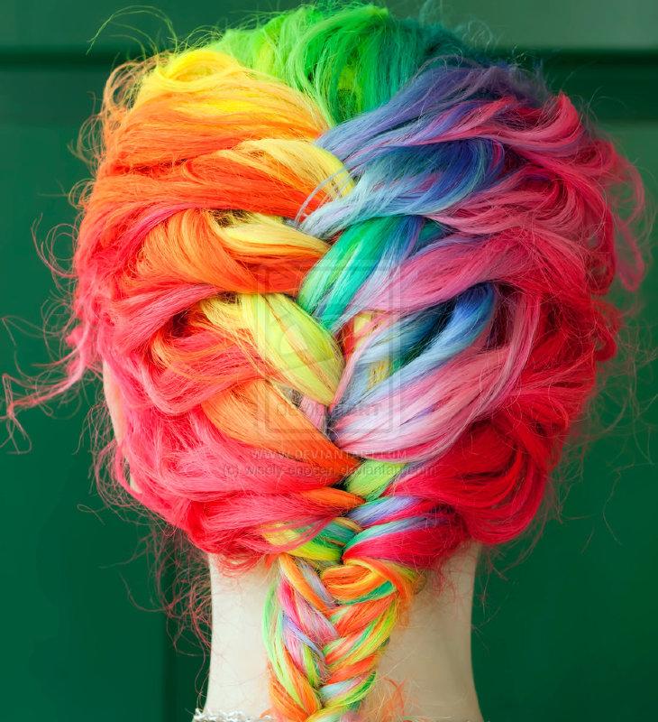 szivárvány hajfonat