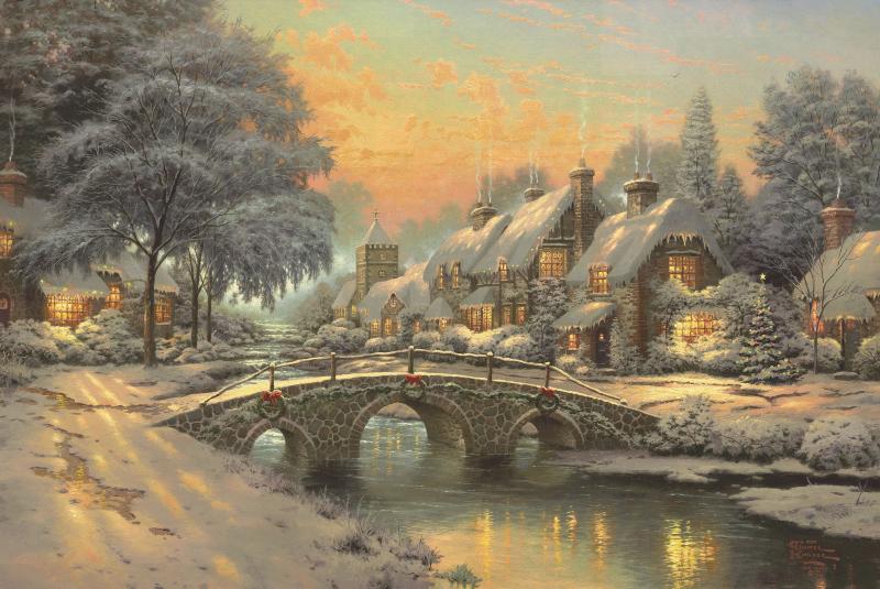thomas kinkade karácsony