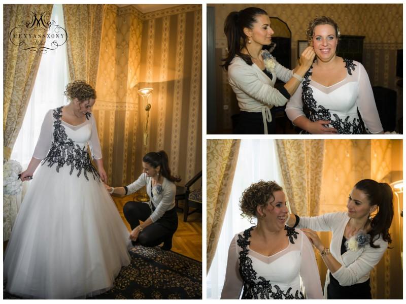 Real bride  Stílusos Menyasszonyok - Csilla fekete fehér esküvője ... d5eee92f38