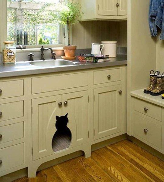 Macska búvóhely-konyhabútor
