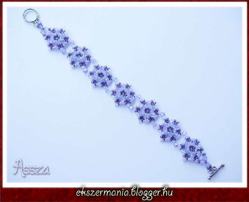 Purple Hexagon karkötő távolkeleti kristályokból