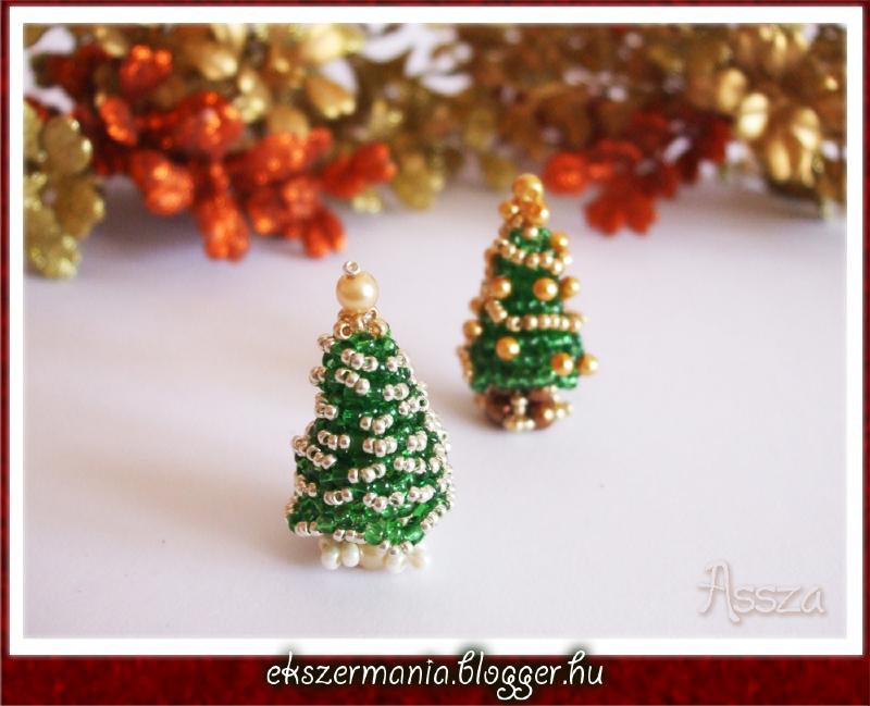 Karácsonyfa gyöngyből