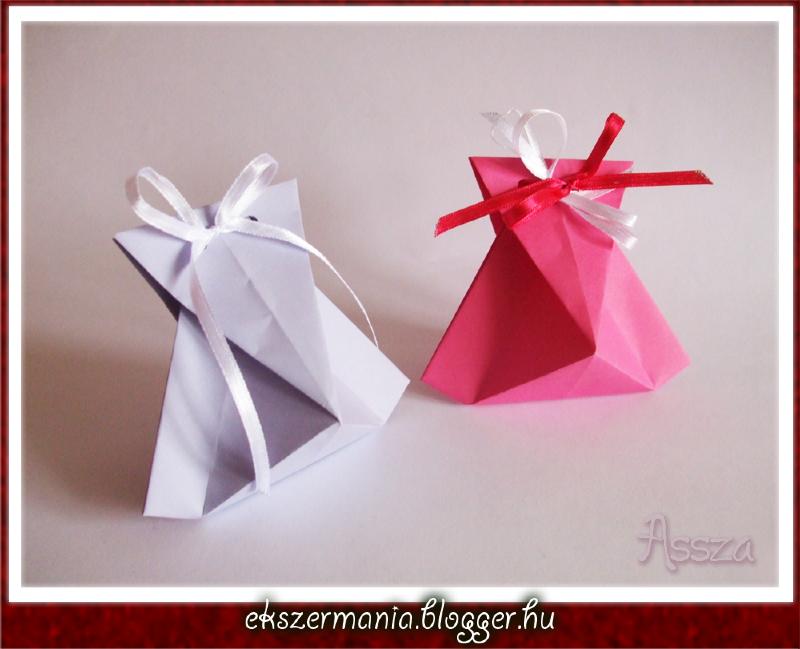 Origami ajándékdoboz