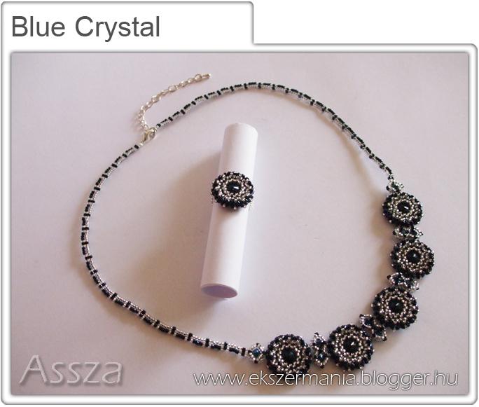 Blue Crystal szett: nyakék és gyűrű