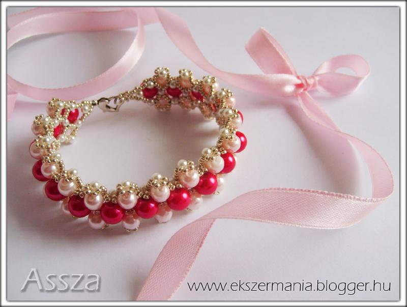 Pink Lady karkötő teklából