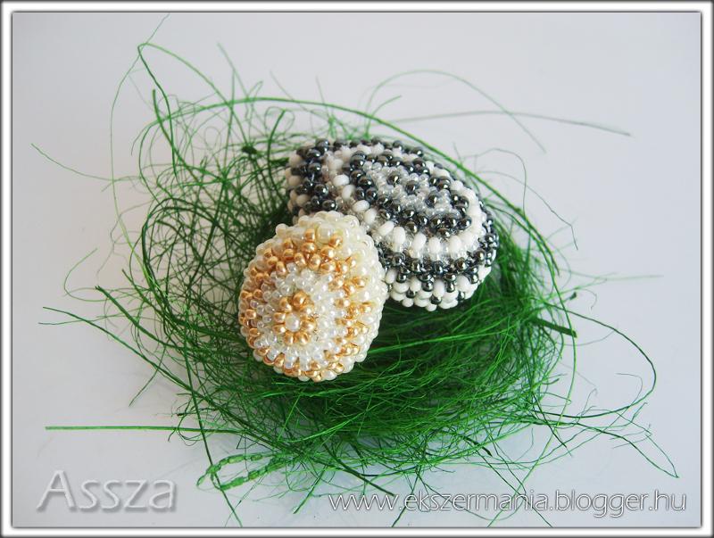 Hímes tojások gyöngyből
