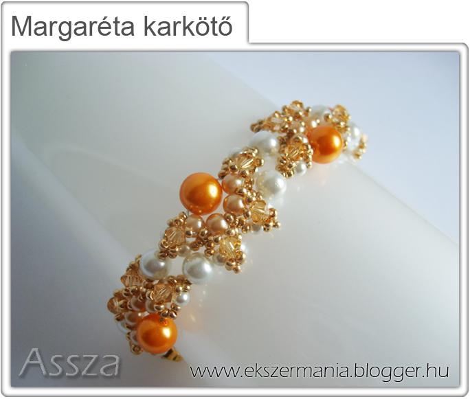 Margaréta karkötő kristályokkal