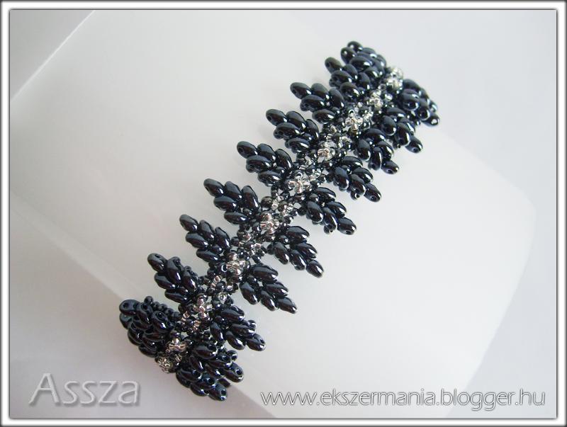Vastag karkötő twin gyöngyből