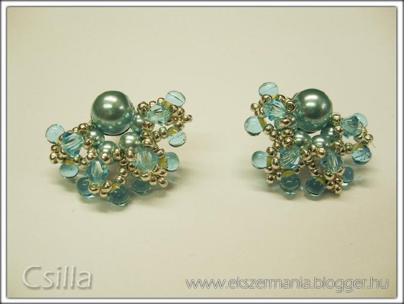 Margaréta fülbevaló - kék