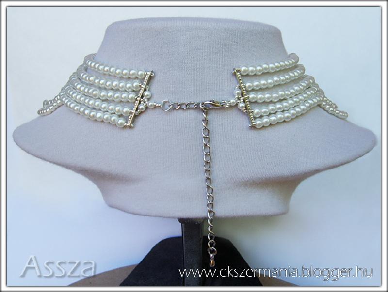 Esküvői nyakék Swarovski kristályokkal