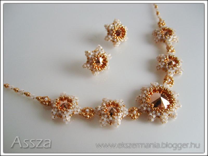 Nyakék és fülbevaló Swarovski kristályokkal
