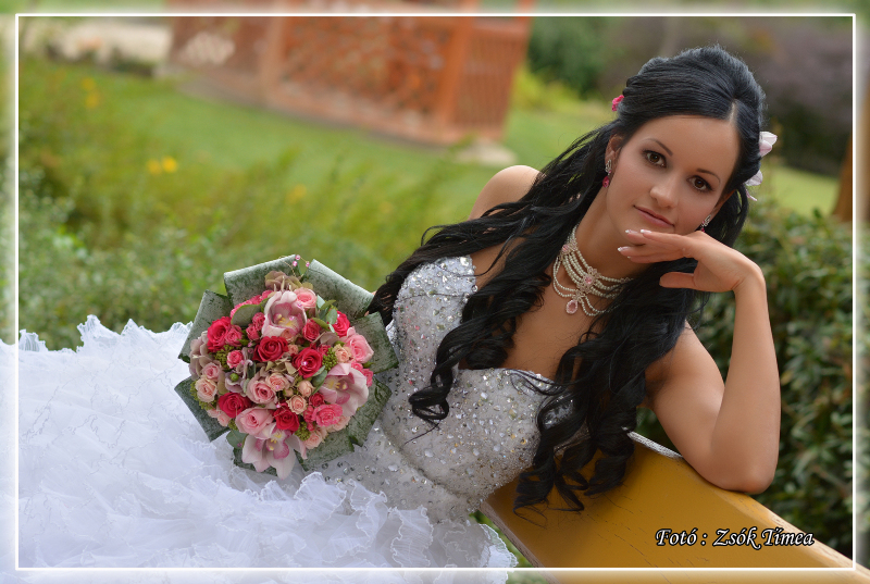 Csilla esküvői nyakéke Swarovski kristályokkal