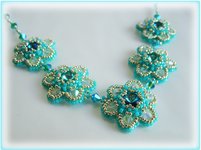 Crystal daisies beading tutorial STEP BY STEP