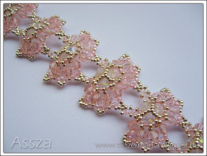 Butterfly karkötő kristályokból