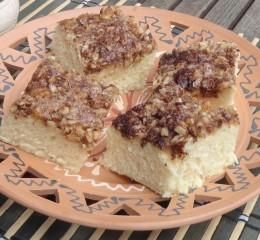 egyszerű diós fahéjas süti