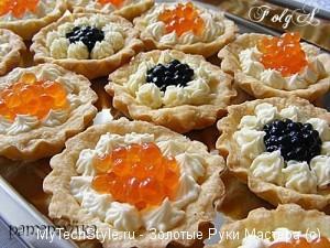 orosz sajtkrémes kaviáros kosárka