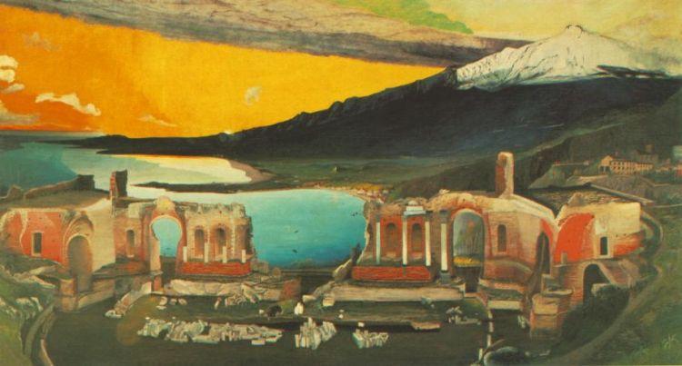 Csontváry Koszta Tivadar: Naplemente Baalbekben