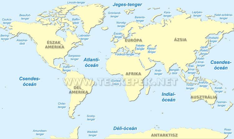 föld óceánjai